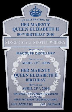 Foto Etikette Queen's bottling